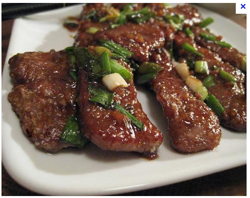 Gluten free PF Changs Mongolian Beef