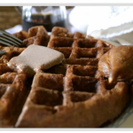 Gluten free, vegan Banana chai waffles