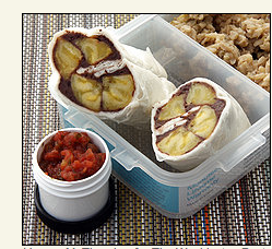 Plantain Wraps With Tangy Black Bean Spread