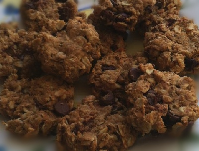 Rita's Healthy PB, Banana & Oatmeal cookies