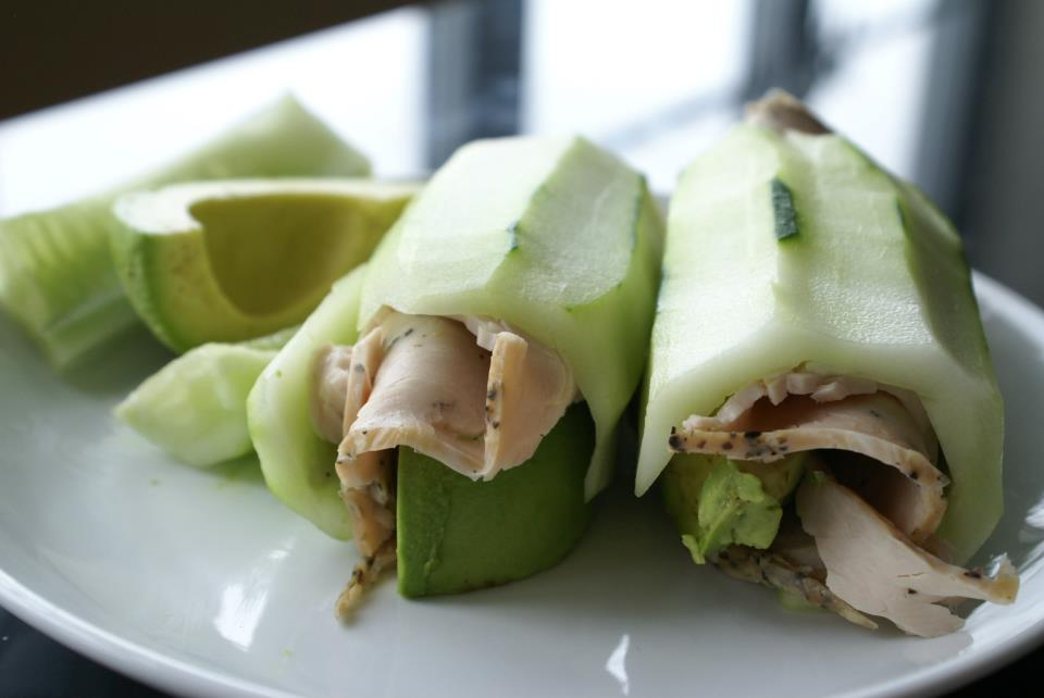 Paleo Turkey Avocado Cucumber Rolls