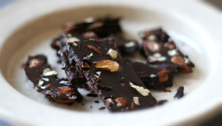 Coconut Oil Chocolate Almond Bark