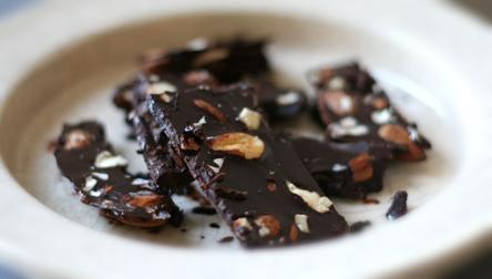 Coconut Oil Chocolate Almond Bark