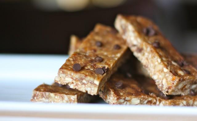 Chocolate PB Granola Bars, grain free, GAPs, Paleo
