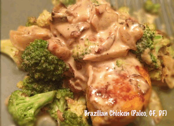 Gluten-free Brazilian Chicken with Coconut Milk Reduction