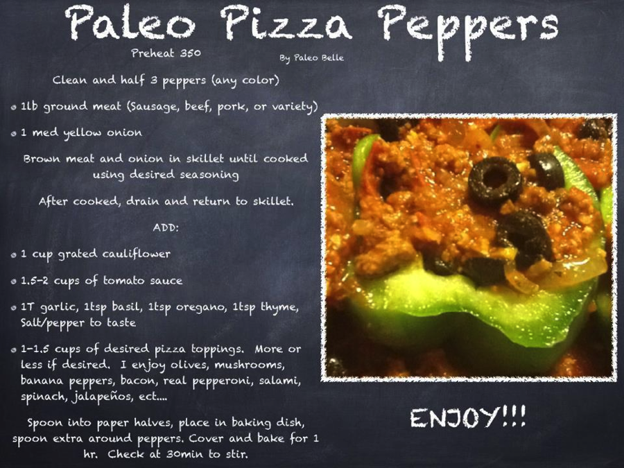 Paleo Survival Recipe—Pizza Peppers