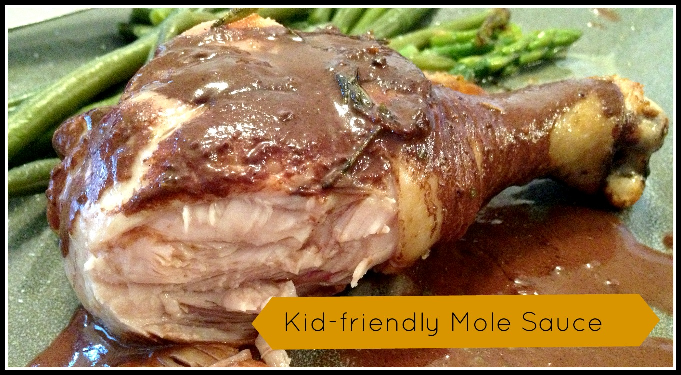 Chicken legs with Mole Sauce (Gluten & Dairy free)