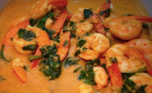 paleo curried shrimp